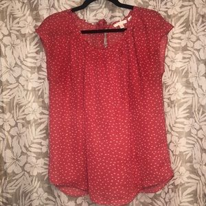 LC Lauren Conrad Print Pleated Top size Large